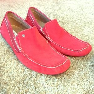 Red men's loafers Steve Madden